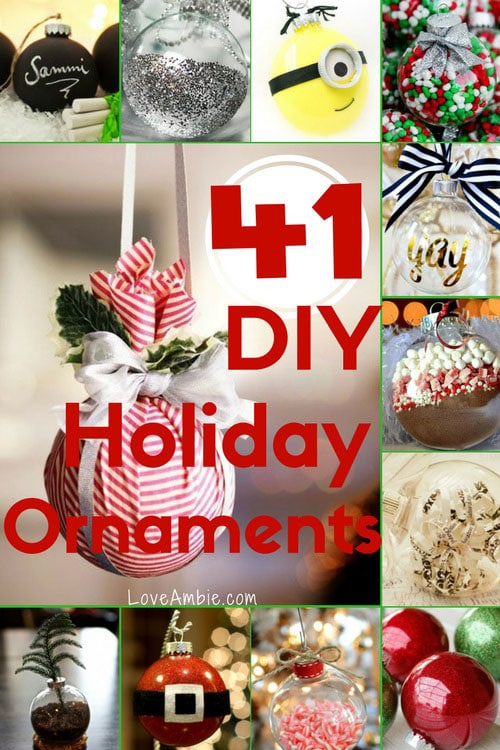 DIY Christmas Ornaments - Holiday Glas Ball Christmas Ornament