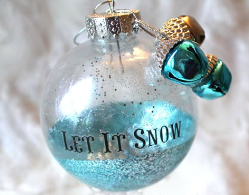 DIY Christmas Ornament - let it snow ornament with bells