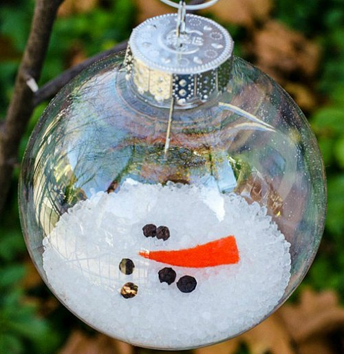 DIY Christmas Ornament - Melted Snowman
