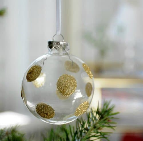 DIY Christmas Ornament - polka dot ornament