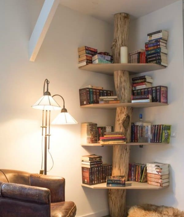 Corner Shelf - One Of A Kind DIY Wooden Corner Shelf
