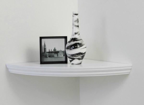 Corner Shelf Ideas - Simple Rounded Edge Floating Shelf