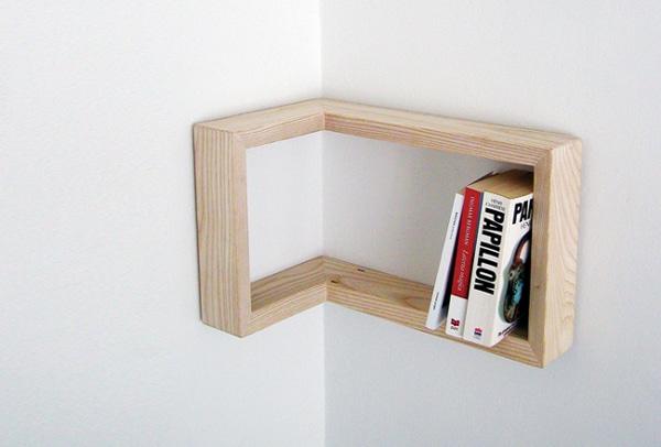 Corner Shelf Ideas - L-Shaped Small Corner Shelf