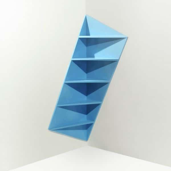Corner Shelf - Modern Colorful Inlay