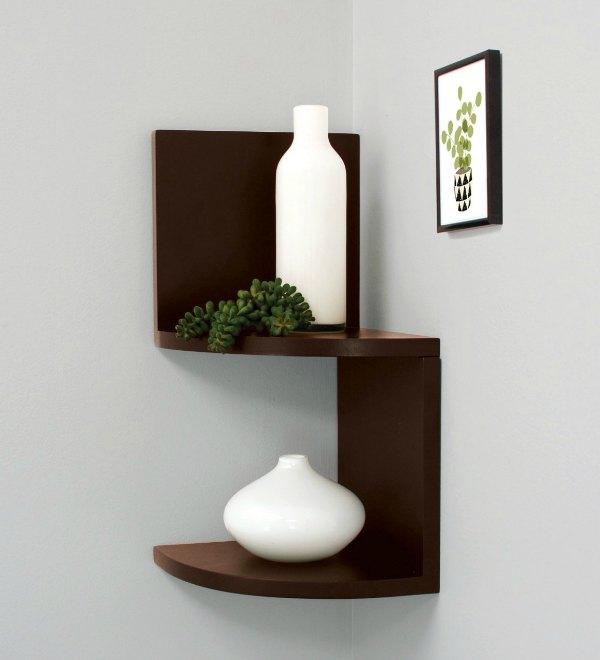 Corner Shelving Ideas - Small Wall Mounted Corner Shelves