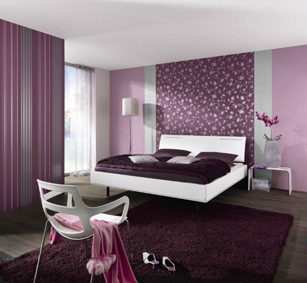 purple bedroom ideas purple wallpaper - Bedroom Ideas With Purple