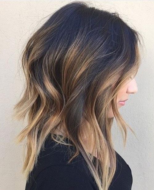Long Bob Hairstyle - Layered Lob Hair