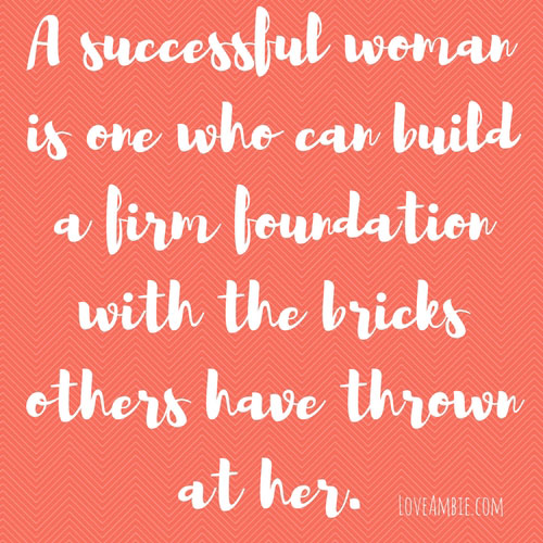 A Successful Woman Quote - Inspirational Quote