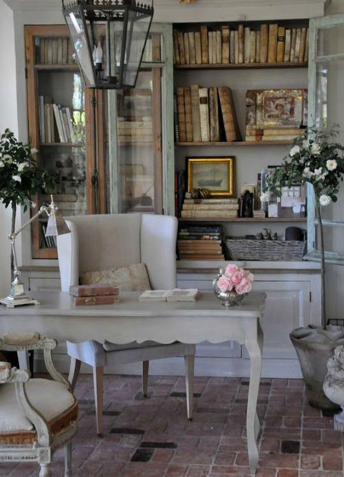 Antique Home Office Ideas - All White