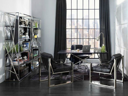 Black and White Home Office Decorating Ideas