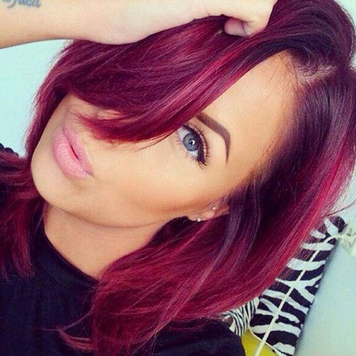 Burgundy Ombre Hair - Dark to Red Ombre Hair