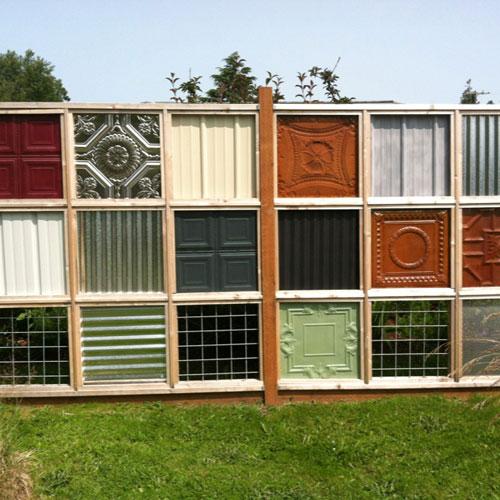 Ceiling Tile Fence