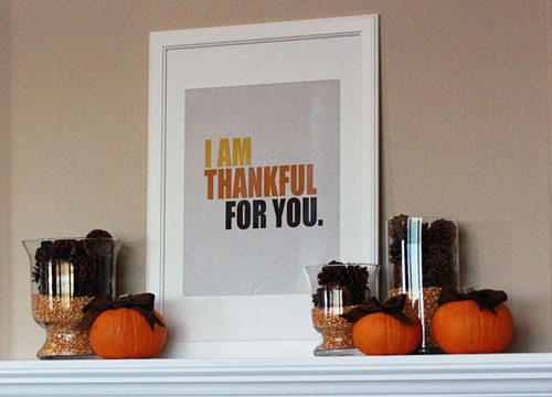 Cheap DIY Thanksgiving Decoration