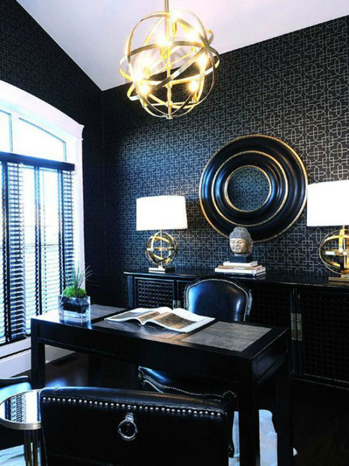 Classic Chic Home Office - Black Home Office Decor