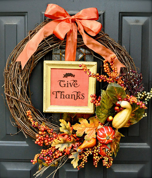 DIY Thanksgiving Decorations Wreath