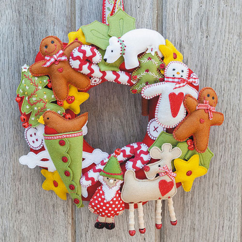 DIY Wreath Idea - Christmas animals Wreath