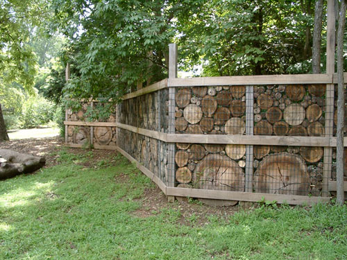 Fence made of Tree Slices