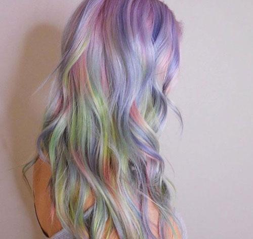 Fluid Hair Painting - Opal Color Hair