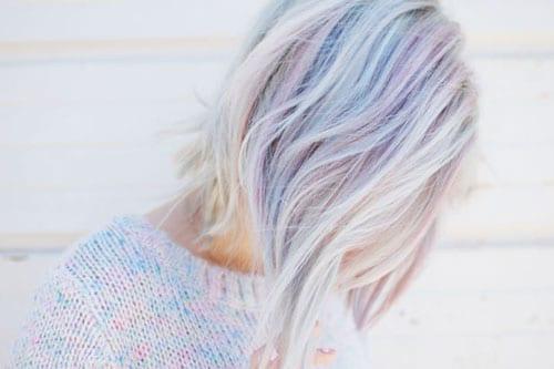 Fluid Hair Painting - Opal Hair Color