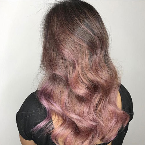 Fluid Hair Painting - Touch of Color