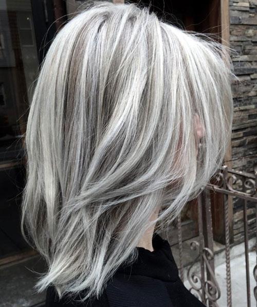 Fluid Hair Painting - White Highlights