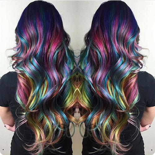 Fluid Painting - Bright Mermaid Color