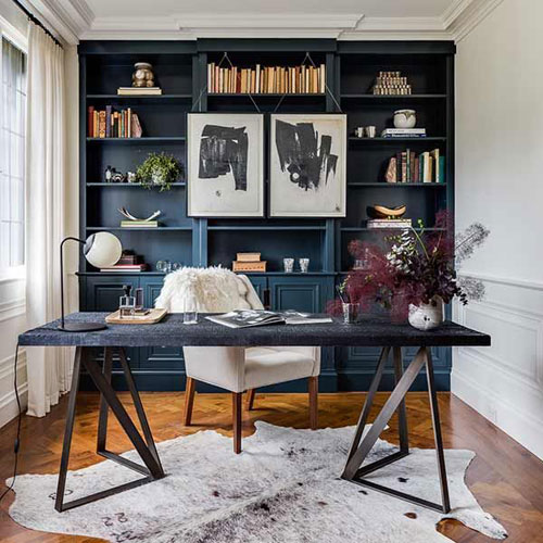 Gorgeous Black and White Home Office