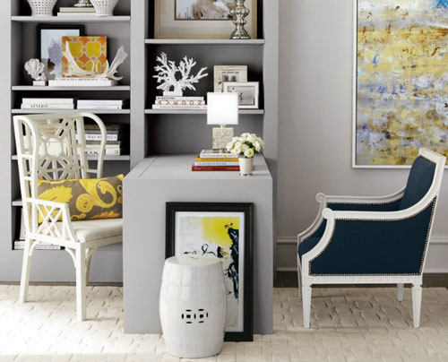 Grey Home Office Ideas With Color