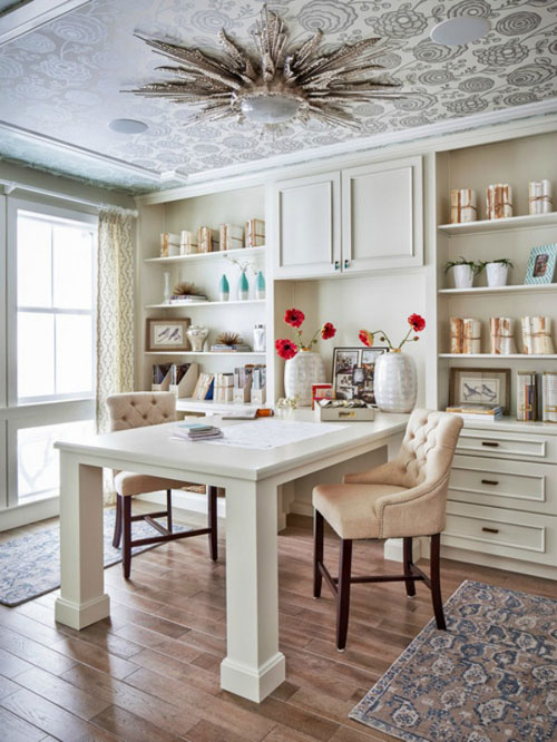 Home Office Decor - All White