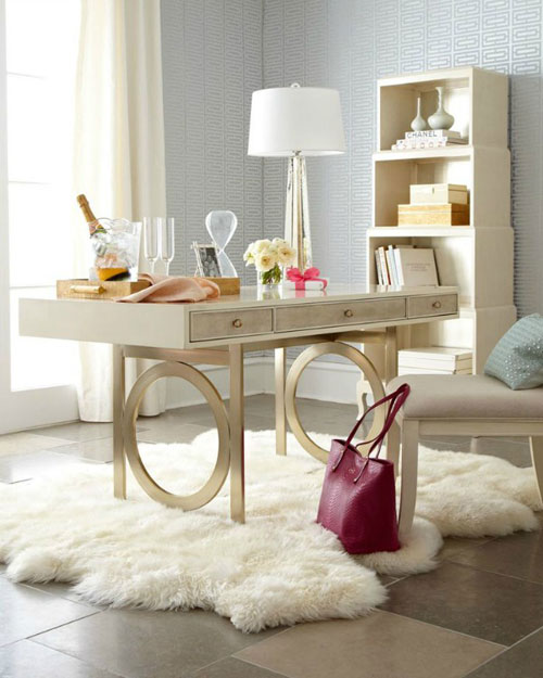 Home Office Decorating All White