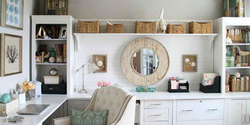 Home Office Ideas - All White Decor