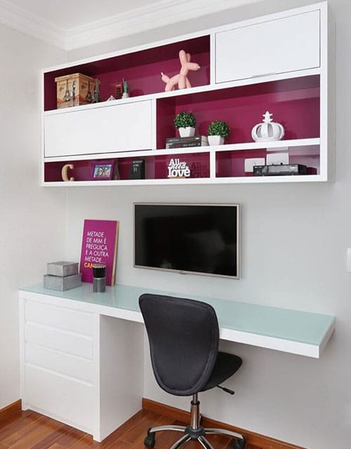 Home Office With A Pop Of Color