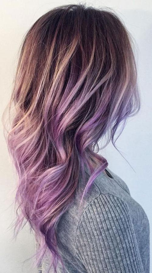 Lavender Balayage Hairstyle