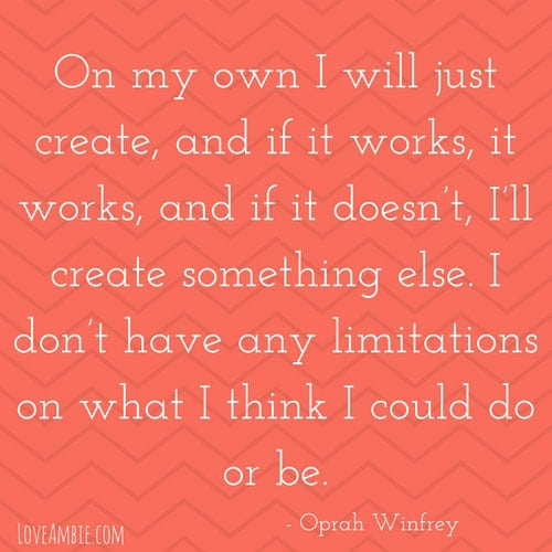 Oprah Winfrey Inspirational Quote - Successful Women Quote