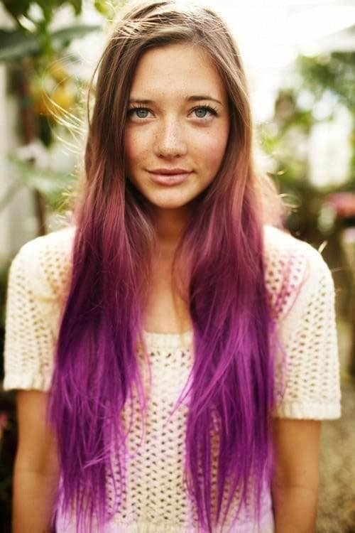 Purple Ombre Hair Inspiration