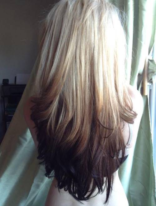 Reverse Ombre Hairstyle