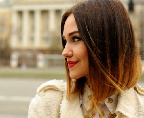 Short Ombre - Brunette to Blonde Ombre Hair Color