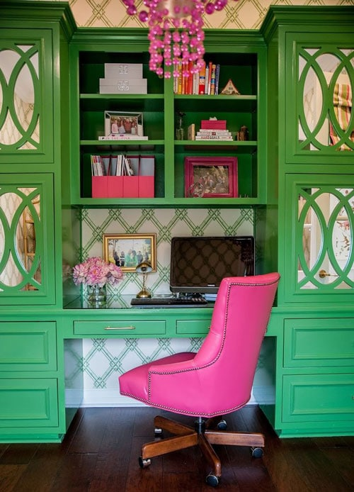Small Home Office Bright Colors