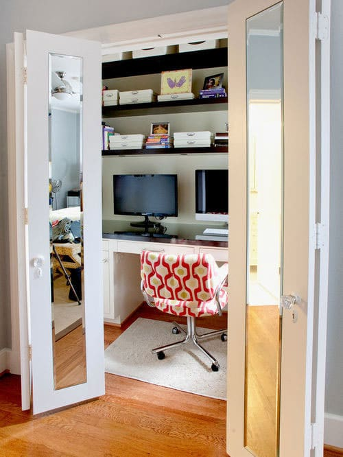 Small Home Office - Closet Office