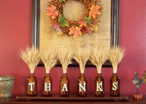 Thanksgiving Mantle Decorations