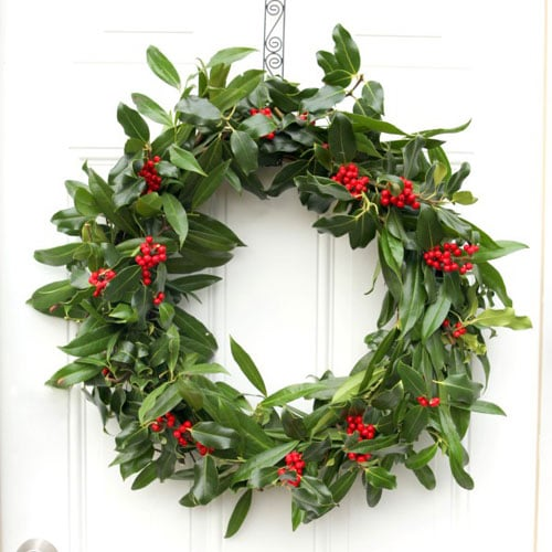 Traditional Holly Christmas Wreath