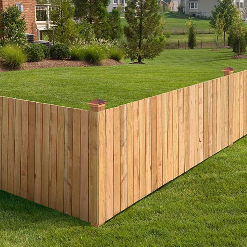 Wooden Flat Top Fence