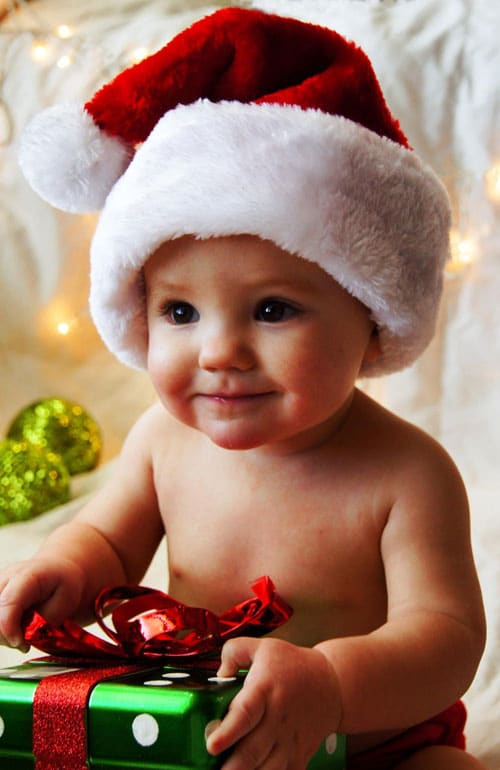 Adorable Christmas Picture Ideas - Baby Christmas Photo
