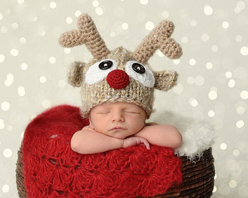 Baby Christmas Picture Ideas - Baby Reindeer