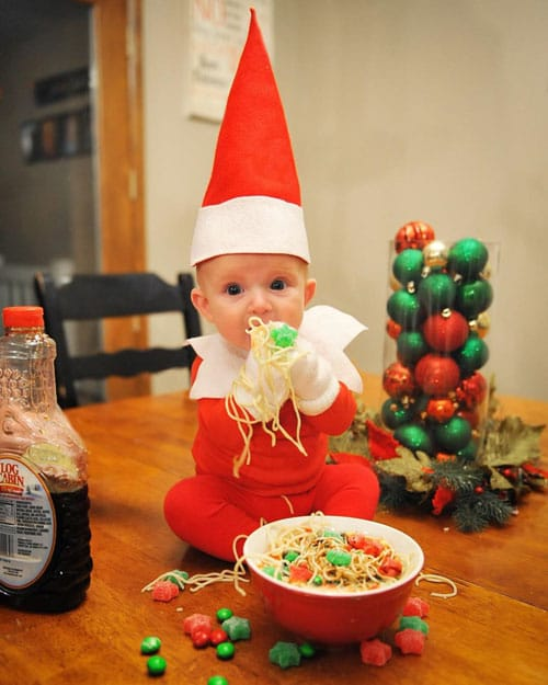 Baby Elf On a Shelf Idea - Christmas Photo Ideas