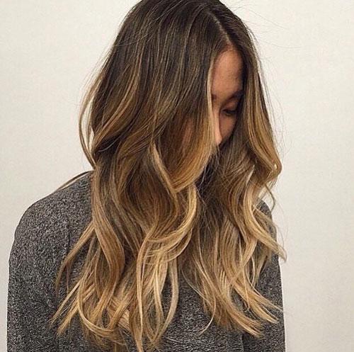 Blonde Highlights for Dark Brown Hair - Blonde Balayage for Brown Hair