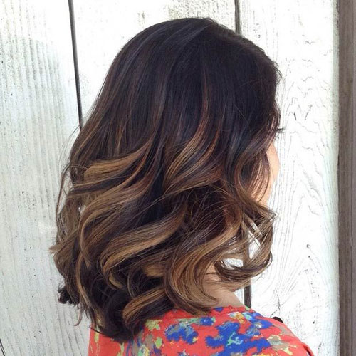 Caramel Balayage for Dark Hair - Balayage for Dark Brown Hair