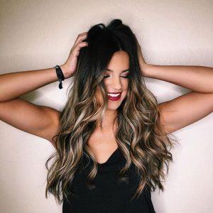 Top Balayage For Dark Hair – Black and Dark Brown Hair Balayage Color
