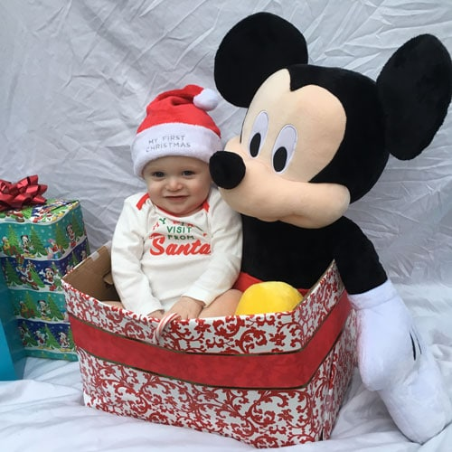 Mickey Christmas Pictures - Baby's first Christmas Picture Ideas - Disney Baby