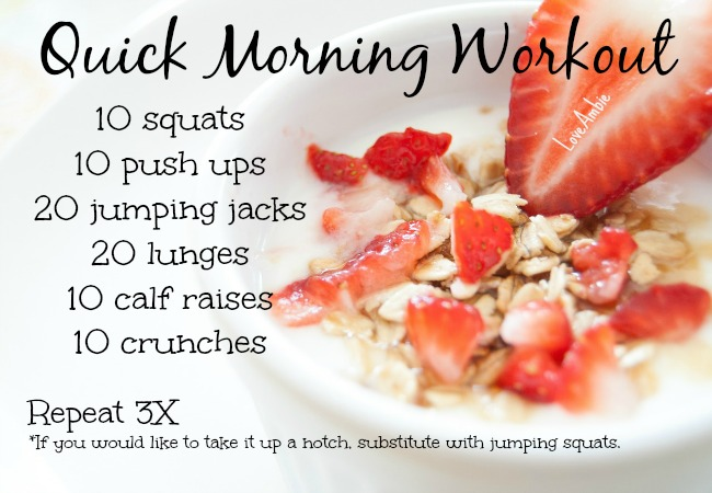 Quick Morning Workout 1 - Easy Exercises to do at home